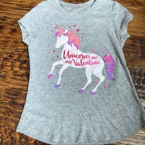 Justice Unicorn Valentine Shirt